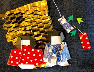 「夢二デザイン折り紙」七夕の催し関連WS @ 夢二郷土美術館 少年山荘1階応接室