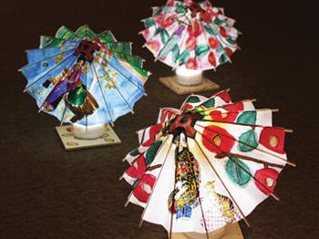 「夢二の和傘アートライト」作品展示 @ 夢二郷土美術館 夢二生家記念館・少年山荘